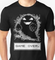 Camiseta ajustada ¡Fantasma usado Maldición! JUEGO TERMINADO