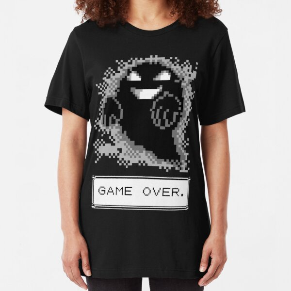 Ghost Used Curse! GAME OVER Slim Fit T-Shirt