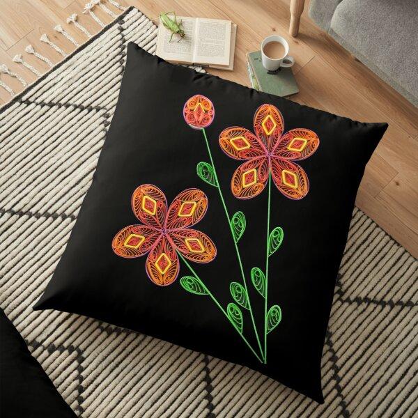 Flowers Floor Pillow