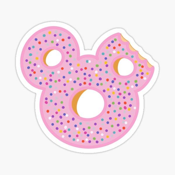 Pink Rainbow Sprinkle Donut Sticker