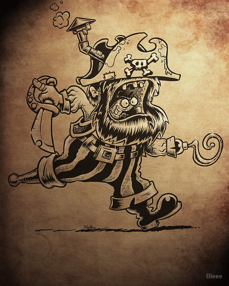 Steam Powered Pirate posters and prints by Bleee
