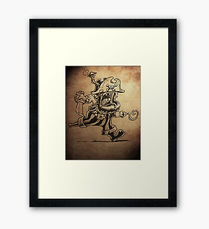 Steam Powered Pirate posters and prints Framed Print