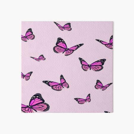 pink butterflies Art Board Print