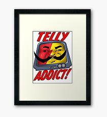 Telly Addict Framed Print