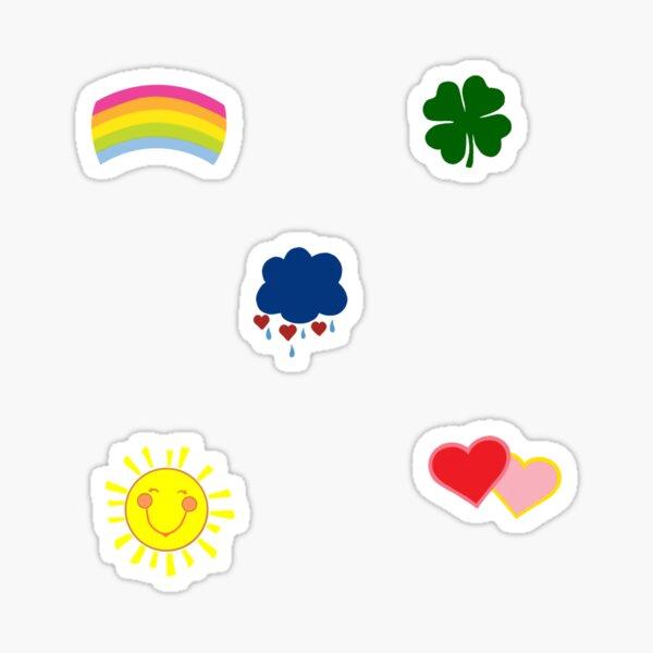 Care bears logos Sticker