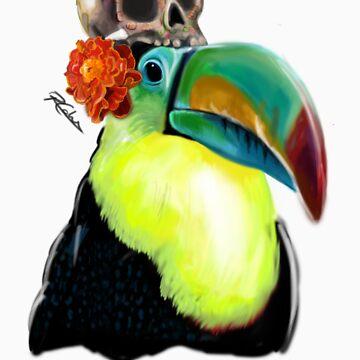 Dia de los Muertos - Toucan by BuddyAvenue