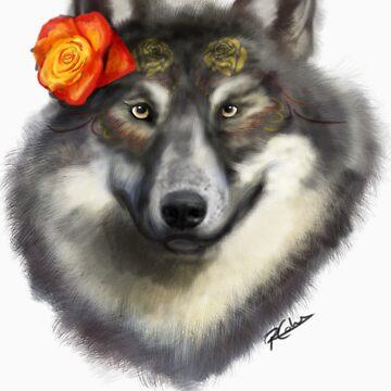 Dia de los Muertos - Wolf by BuddyAvenue