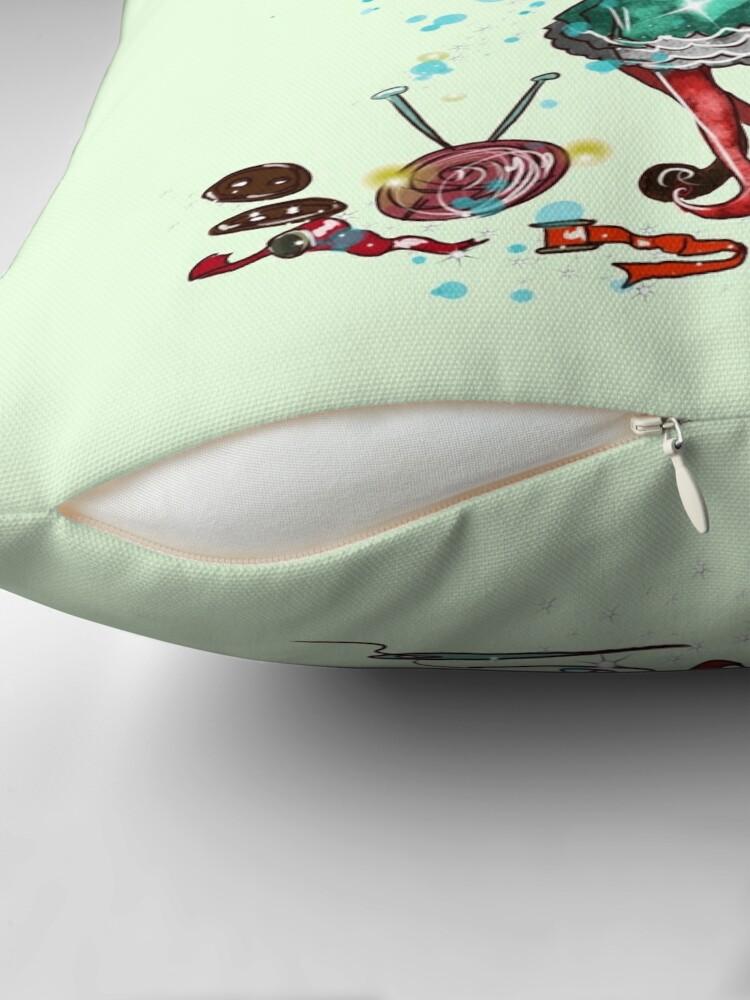 Alternate view of Fabiana The Handmade Fairy Doll Fairy™️ Throw Pillow