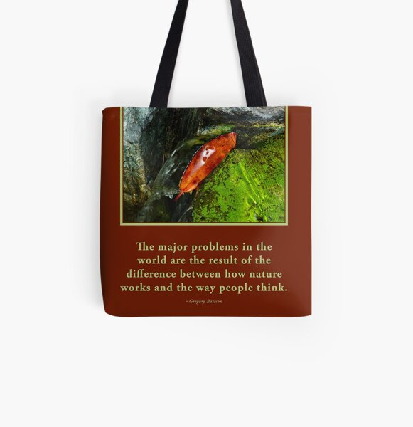 How Nature Works - G. Bateson quote Novasutras All Over Print Tote Bag