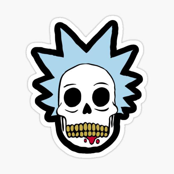 Rick Skull Face  Sticker