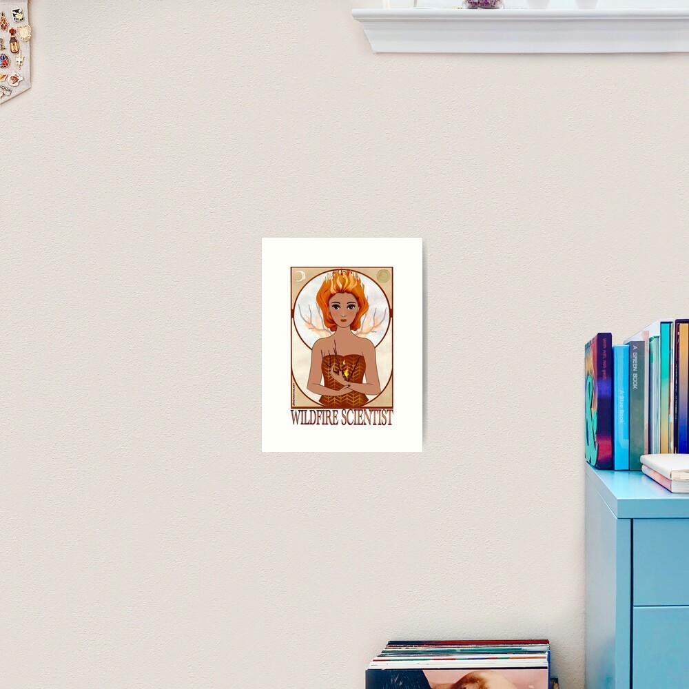 Wildfire Scientist (SciArt Nouveau) Art Print