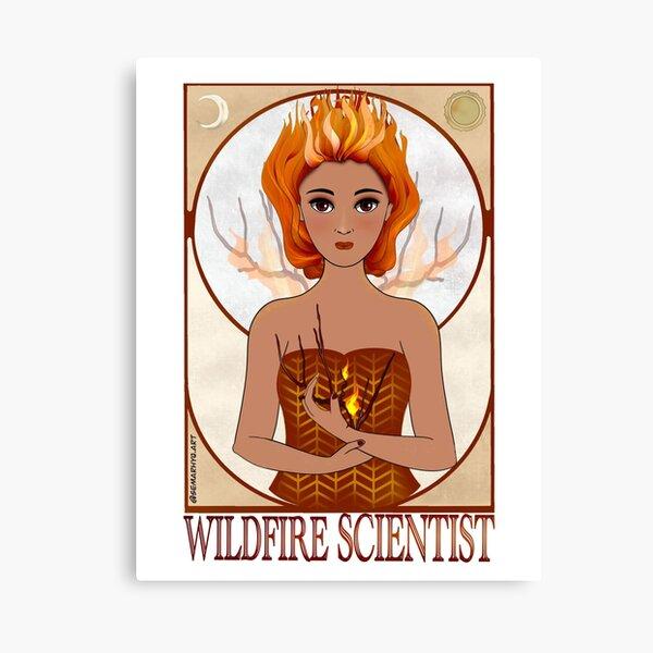 Wildfire Scientist (SciArt Nouveau) Canvas Print