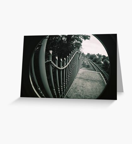 Lines and tracks Greeting Card