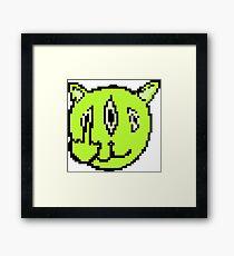 Pixel Cat Framed Print