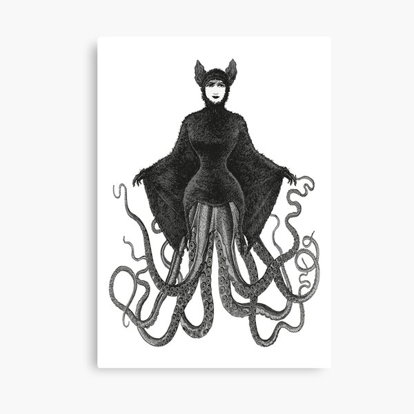 Hybrid Octopus Bat Woman | Hybrids | Hybrid Creatures | Canvas Print