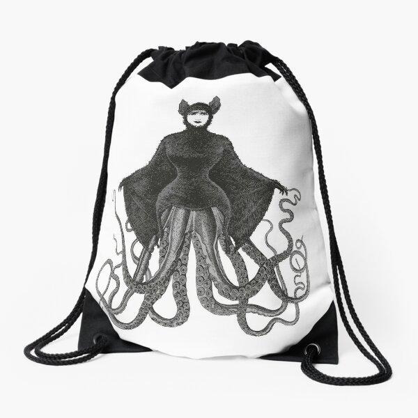 Hybrid Octopus Bat Woman | Hybrids | Hybrid Creatures | Drawstring Bag