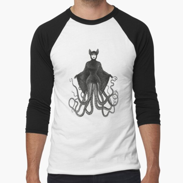 Hybrid Octopus Bat Woman | Hybrids | Hybrid Creatures | Baseball ¾ Sleeve T-Shirt