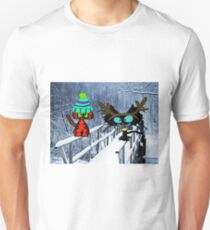 Two CatsPlay In The Snow Unisex T-Shirt