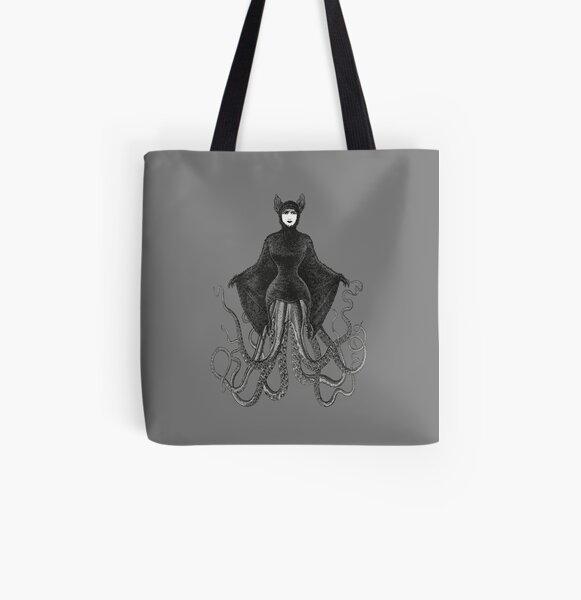 Hybrid Octopus Bat Woman   Hybrids   Hybrid Creatures   All Over Print Tote Bag