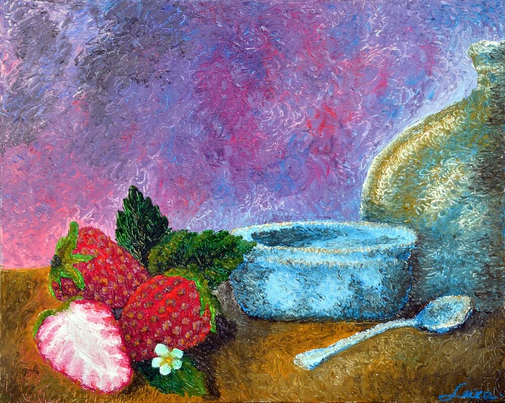 Garden Strawberry by Luxoart