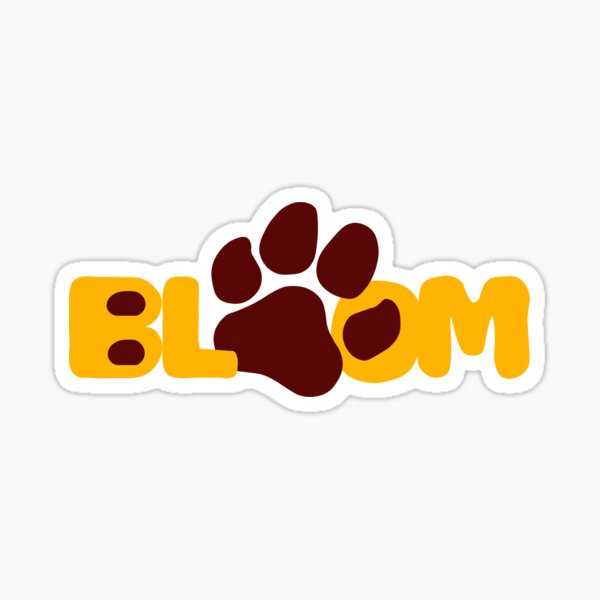 Bloom Huskies Sticker