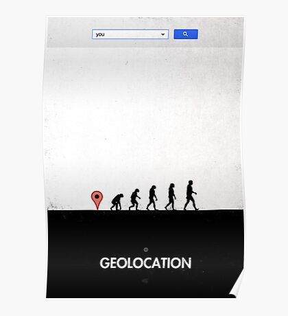 99 steps of progress - Geolocation Poster