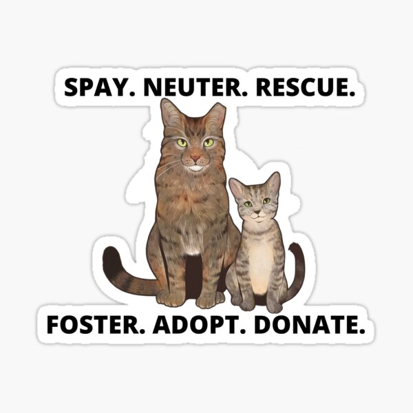 Foster, Adopt, Donate Design Sticker