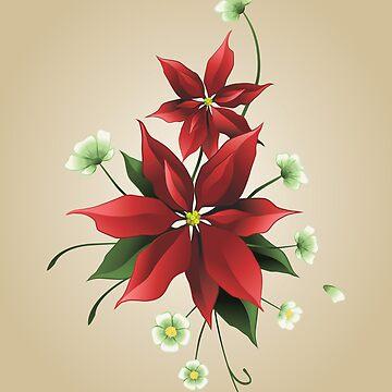 Christmas Poinsettias by elenab