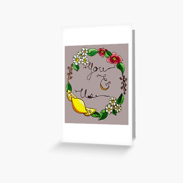 You and Us Greeting Card
