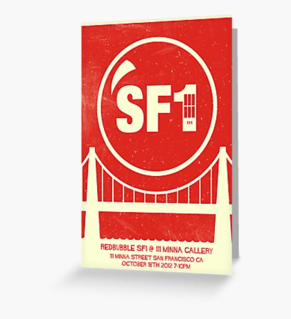 Redbubble SF1 Minimalist Poster Greeting Card