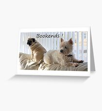 Canine Bookends ! Greeting Card