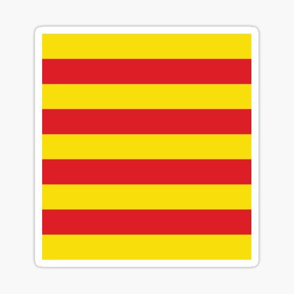 Bandera de cataluña Pegatina