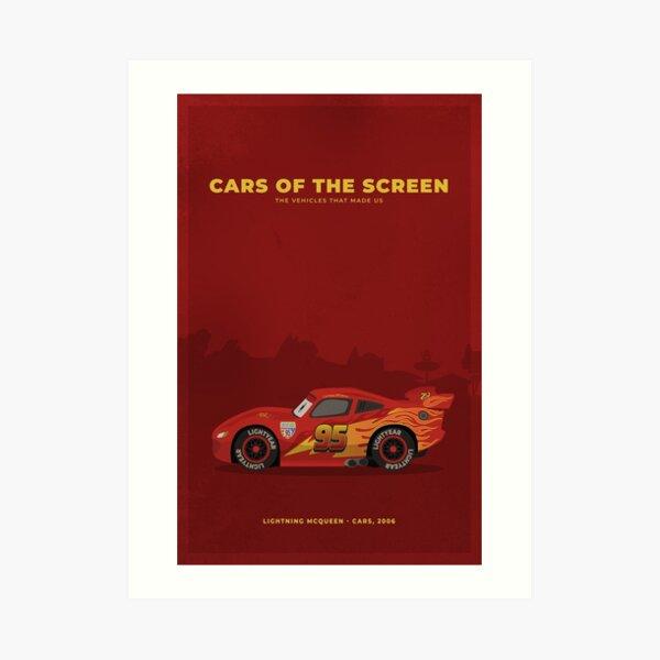 Cars of The Screen - Lightning McQueen - Cars, 2006 Art Print