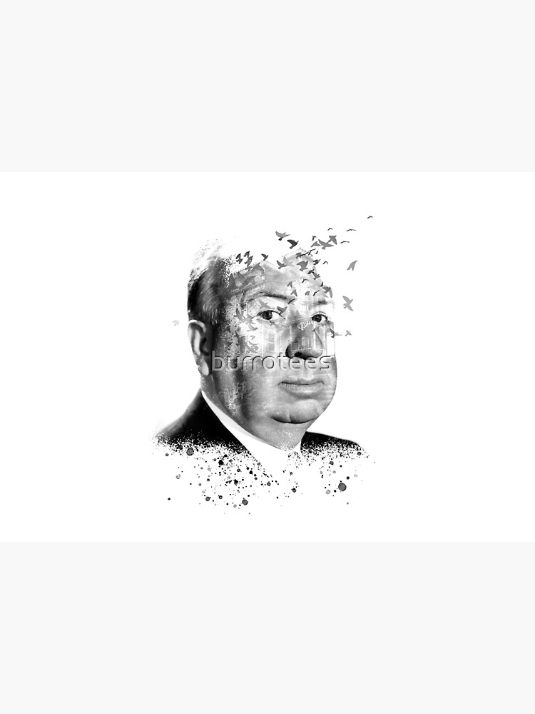 Alfred Hitchcock White Collage by Burro by burrotees