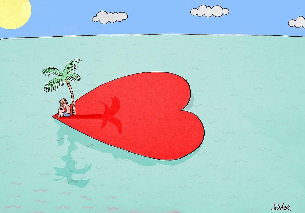 love is an island by Loui  Jover
