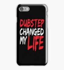 Dubstep Changed My life (black/red) iPhone Case/Skin