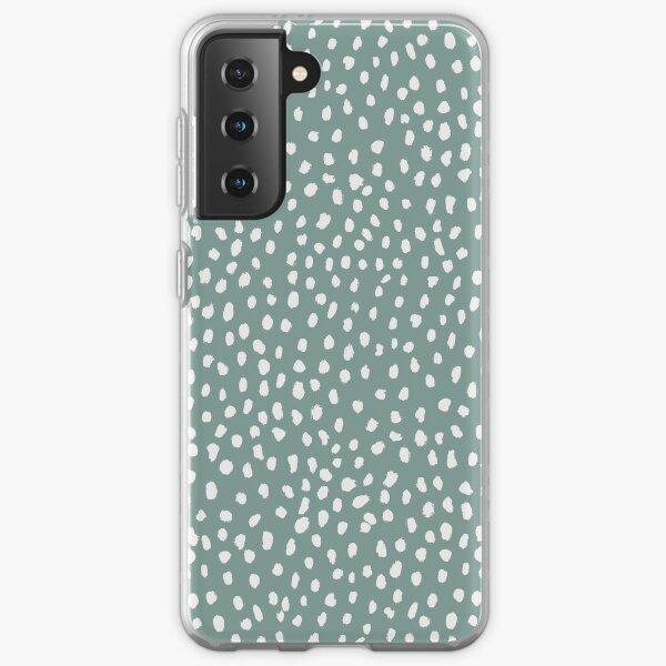 Sea Green Dalmatian Print Mask Samsung Galaxy Soft Case