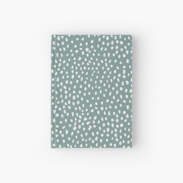 Sea Green Dalmatian Print Mask Hardcover Journal