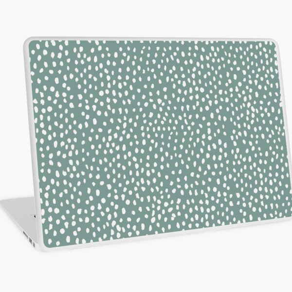 Sea Green Dalmatian Print Mask Laptop Skin