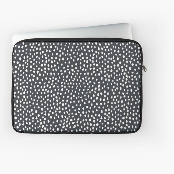 Dark Grey Dalmatian Print Mask Laptop Sleeve