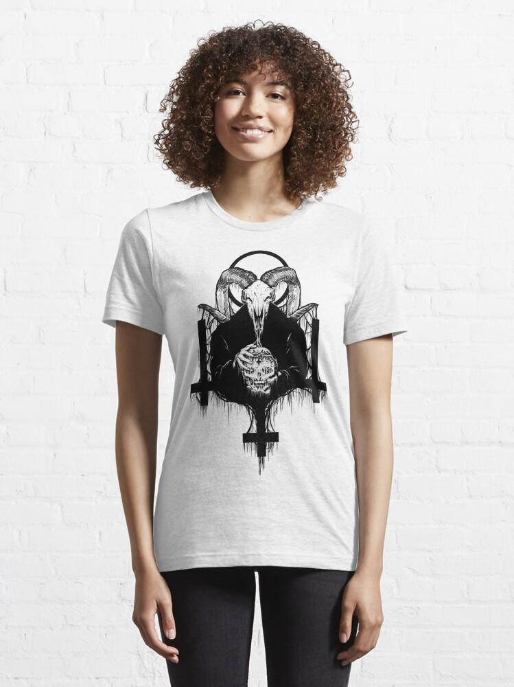 Alternate view of Satan Gets Ahead Essential T-Shirt
