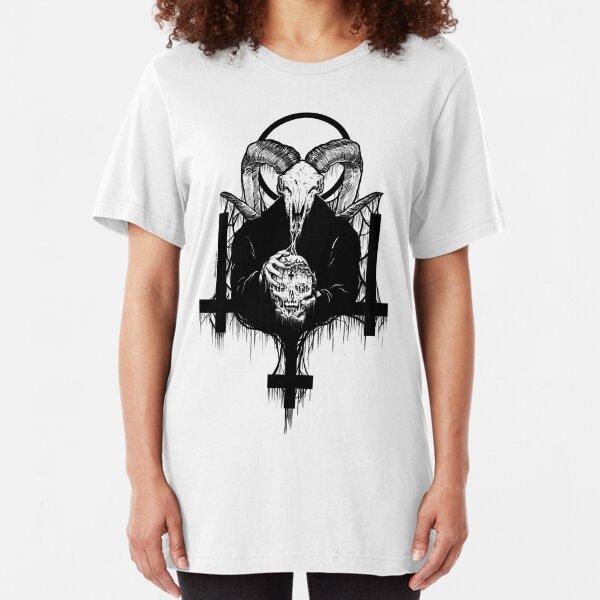 Satan Gets Ahead Slim Fit T-Shirt