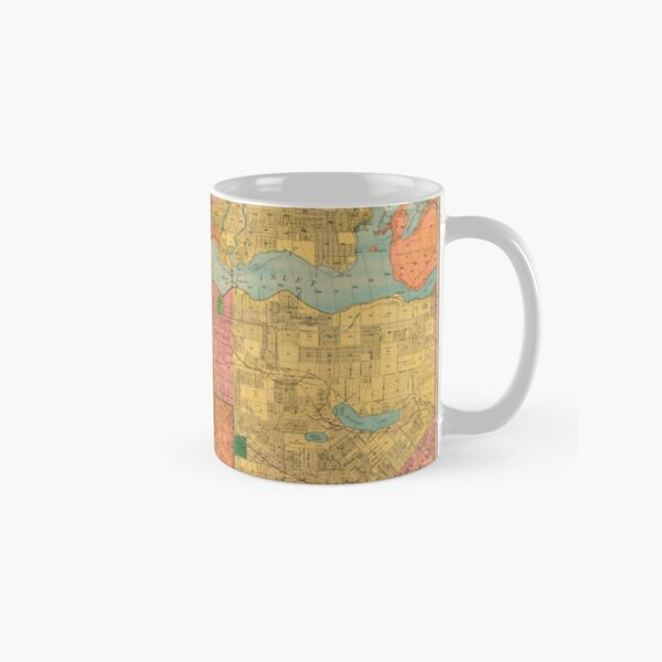 Indexed guide map of the city of Vancouver and suburbs Classic Mug