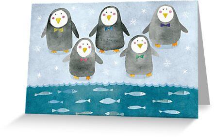 Penguins by Oksana Tarasova