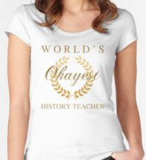 74c385eed World's Okayest History Teacher Women's Fitted Scoop T-Shirt