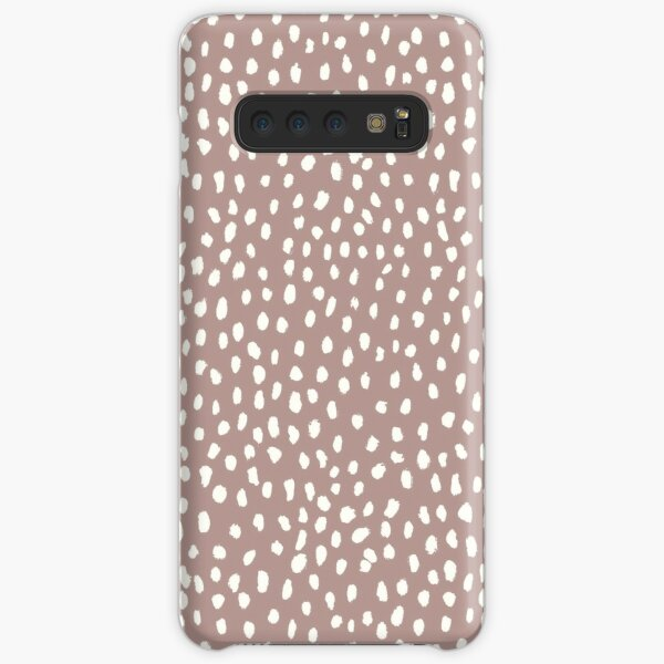 Mauve Dalmatian Print Mask Samsung Galaxy Snap Case