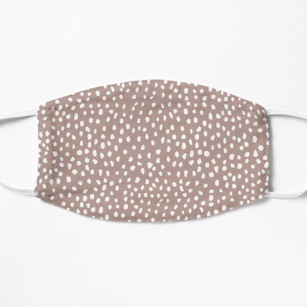 Mauve Dalmatian Print Mask Flat Mask