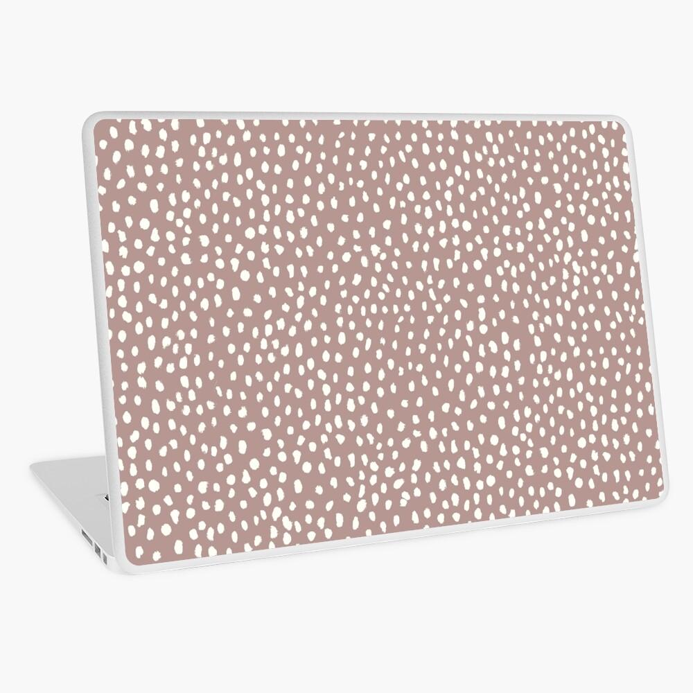 Mauve Dalmatian Print Mask Laptop Skin