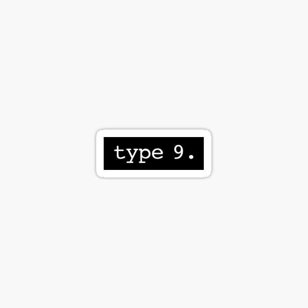 Type 9 Typewriter Pegatina