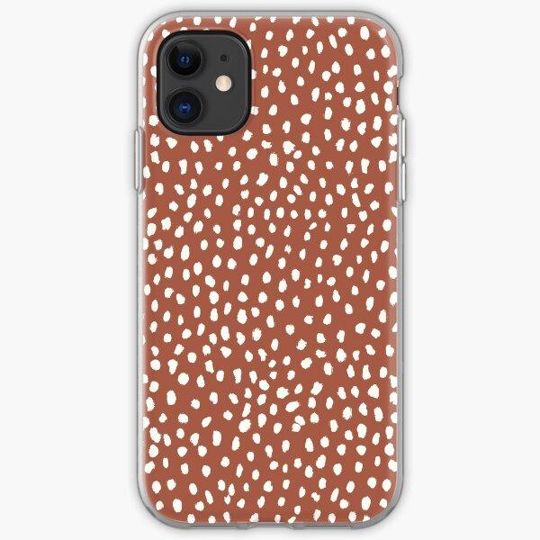 Rust Dalmatian Print Mask iPhone Soft Case